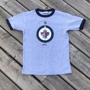 Reebok Winnipeg Jets NHL Ring Tee Youth Medium